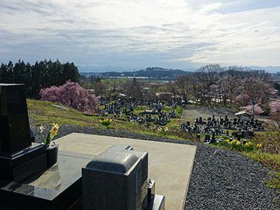 永昌寺の墓地からの風景